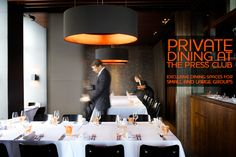 Dining at The Press Club - Melbourne