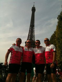 Cycled from London to Paris with Three other Old Fat blokes, Ian Matthews, Mark Boyt and Nick Redman - great memories and the four of us raised £12K for charity!! (not sure where the £12.00 logo has come from, but hey ho!)