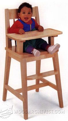 High Chair Plans - Children's Furniture Plans and Projects   WoodArchivist.com