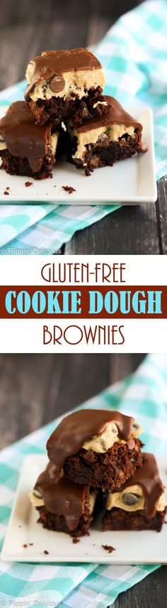 With these Gluten Free Chocolate Chip Cookie Dough Brownies you'll never have to pick between fudgy brownies or gooey cookie dough ever again.