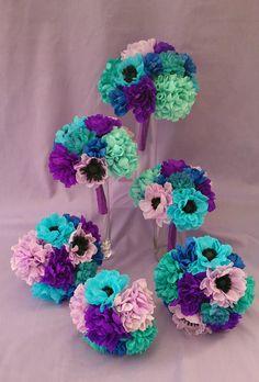 Paper flower wedding set
