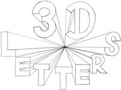 3D Lettering Lessons - Shading, Cavalier Perspective, 1-Pt Perspective, Color