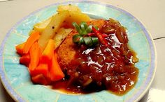 Resep Membuat Steak Tempe Indonesian Cuisine, Thai Red Curry, Cake Recipes, Steak, Plates, Ethnic Recipes, Food, Licence Plates, Dishes