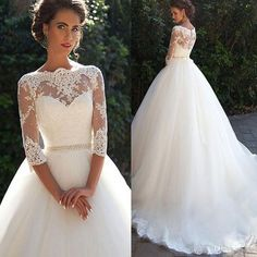 New Arrival Modest A-line Charming Junior Elegant Wedding Party Dresses. The wedding dresses are fully lined, 4 bones in the bodice, chest pad in the bust, lace up back or zipper back are all availabl