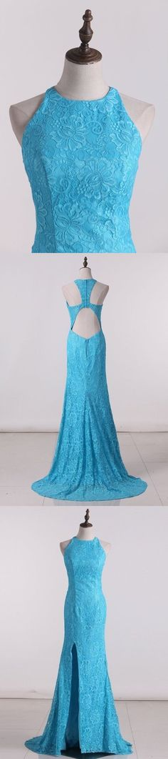 2020 Prom Dresses Scoop Open Back Sheath P6R6M3HM, This dress could be custom made, there are no extra cost to do custom size and color Cheap Evening Dresses, Cheap Prom Dresses, Girls Dresses, Flower Girl Dresses, Formal Dresses, Split Prom Dresses, Junior Bridesmaid Dresses, Robes D'occasion, Bleu Royal