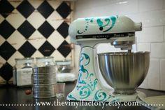 Swirl KitchenAid Mixer Wrap  Supreme by TheVinylFactory on Etsy, $22.00