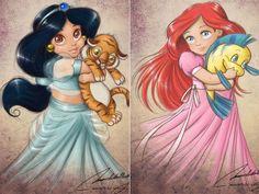 Princesas da Disney versão crianças
