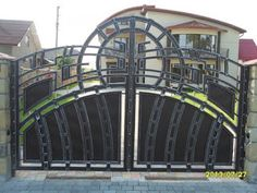 Manufacturer Shutter Doors And Gates India Front Gate Design, Main Gate Design, House Gate Design, Door Gate Design, Sliding Door Design, House Front Design, Front Gates, Entrance Gates, Wrought Iron Gates