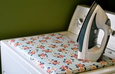 Make a dryer top ironing board + 44 More Home Organizational & Household Tips Tricks & Tutorials just in time for Spring!
