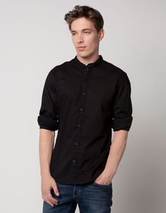 black collar shirt ;)