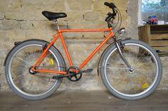 RE FAB-DIJON Série vélo bicyclette homme orange Orange, Veil, Bike Frame, Vintage Cycles, Color Pop, Bicycle Kick