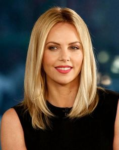Layered lob hairstyle for women