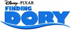 Finding Dory embroidery design. Machine embroidery design. www.embroideres.com