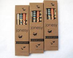 Jonesy Mixed Box Paper Pens on #Etsy #pen #paper