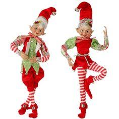 """16"""" Posable Elf Ornament by RAZ Imports"""
