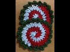 -Πως πλέκω ενα σπιραλ σουβερ- spiral christmascoaster - YouTube