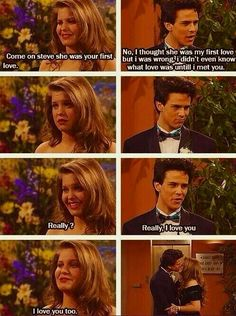 Full House :)) she shouldn't have broken up with steve <<— so glad they're back together in fuller house Full House Memes, Full House Funny, Full House Quotes, Full House Cast, Dj Tanner, Fuller House, Old Shows, Movie Couples, Tv Show Quotes