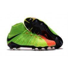 online store 975d6 9b476 Botas De Futbol Nike Hypervenom Phantom III 3 DF FG Verde eléctrico Negro  Hype Naranja Online