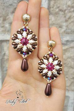 17 Outstanding Styles To Wear Beaded Tassel Earrings Beaded Tassel Earrings, Seed Bead Earrings, Drop Earrings, Beaded Jewelry Patterns, Bead Patterns, Super Duo Beads, Bead Jewellery, Statement Jewelry, Jewelry Design