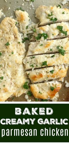 Baked Garlic Parmesan Chicken | Baked Chicken | Chicken Breast Recipes| Chicken Recipes | Baked garlic parmesan chicken is an easy dinner recipe that everyone will LOVE! #easydinnerrecipes #chicken #dinner