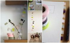 Masking tape. Make your own tabs