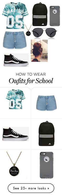 School by xovbx on Polyvore featuring Ally Fashion, Vans, adidas, OtterBox and The Row