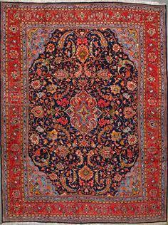 """Sarough Persian Rug, Buy Handmade Sarough Persian Rug 8' 0"""" x 11' 0"""", Authentic Persian Rug $2,193.00"""