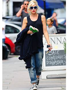 Gwen Stefani on the Street - Iconic Denim - Redbook