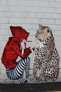 Street Artist Cake Lady. Graffiti and Murals