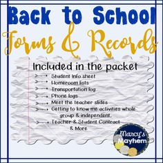 Getting back to school can be stressful! Use this packet to help ease into going back to school, and the first few weeks.Included in this back to school packet are: parent(s) forms, homeroom lists, transportation logs, conference day sign up, phone logs, conference notes, rules and expectations, first week plans, procedures checklists, important numbers practice, teacher contracts, student contracts, and getting to know me activities.