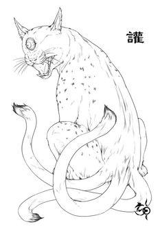 《山海经》描述:有兽焉,其状如狸,一目而三尾,名曰讙,其音如百声,是可以御凶,服之已瘅。 讙,也叫原,长的虽然古怪,却可以避凶。