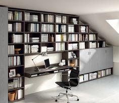 libreria scrivania soggiorno - Cerca con Google | Librerie ...