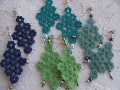 Orecchini pendenti - orecchini uncinetto cotone - un prodotto unico di  dorazimorena su DaWanda Crochet Di 8f7647d05090