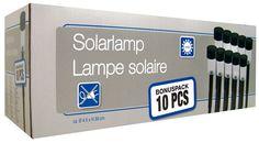 LED Solarlampen (Set van 10 stuks) €11,95 #ledlamp #tuinverlichting -Afmeting hoogte: ca. 32cm.(inclusief een 11cm grondpen) -Afmeting diameter: ca. 4,5cm.
