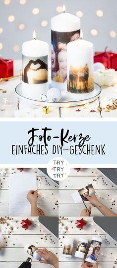 Fotokerze / DIY Geschenk / DIY Geschenkidee / DIY Weihnachtsgeschenk / DIY für Weihnachten / Last Minute DIY Geschenk / DIY Gift / schnelles und günstiges DIY Geschenk