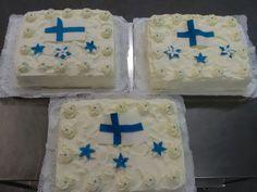 Päiväkoti Esikon juhlaan isänmaalliset kakut. Suomi 100-vuotta!  30.11.2017