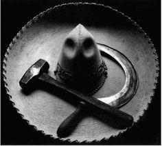 Sombrero mexicano con la hoz y el martillo  - Tina Modotti: fotógrafa y luchadora social - Museógrafo