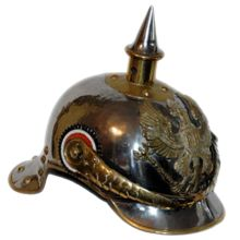 Cuirassier Metal Helmet 1894 pattern with round front peak since 1899