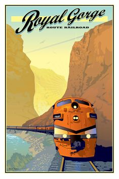 Items similar to Royal Gorge Railroad Vintage style Poster on Etsy