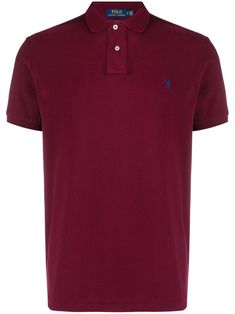 Polo Ralph Lauren Custom Slim Fit Mesh Polo shirt - Red Ralph Lauren Store, Polo Ralph Lauren, Slim Fit Polo Shirts, Size Clothing, Women Wear, Short Sleeves, Mens Fashion, Fitness, Mens Tops