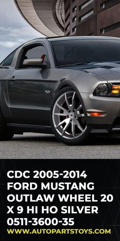 Classic Design Concepts Outlaw Wheels are specifically designed for newer model Ford Mustangs, Chevy Camaros and Dodge Challengers. They are available in Bandit Black Gloss, Hi Ho Silver and Gunsmoke Dark Gray Satin. ford mustang interior, ford mustang accessories, ford mustang shelby gt500, ford mustang car, ford mustang car decals, exotic cars, luxury cars, sport cars, supercars, campers and rv, Cars, car accessories, Ford Mustang Outlaw Wheel! #cars #ford #carwheels #autoparts…