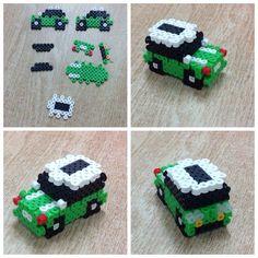 3D Car perler beads by Amanda Collison: