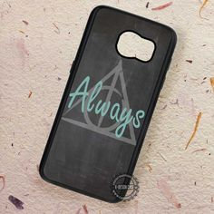 Always On Chalkboard Deathly Hallows - Samsung Galaxy S7 S6 S5 Note 7 Cases & Covers
