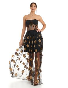 Ibiza, Strapless Dress, Dresses, Fashion, Dress Collection, Long Dresses, Under The Stars, Embroidered Flowers, Sequins