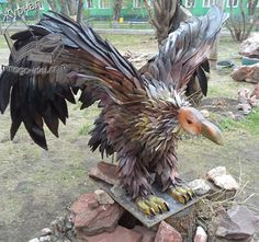 Поделки из шин Tire Chairs, Old Tires, Bald Eagle, Lion Sculpture, Statue, Crafts, Animals, Recycling Ideas, Diy And Crafts