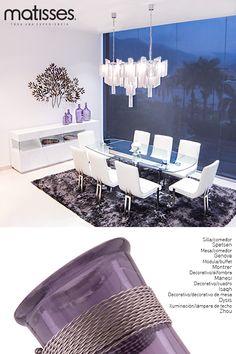 Experiencia Matisses: El violeta en todas sus gamas es un tono especial para el living porque aporta elegancia; para mayor efecto de profundidad se puede aplicar a los espacios pequeños.