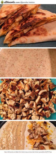 Copy Cat Taco Bell Chicken Quesadillas