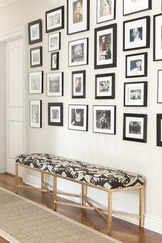 Foyer Photo Wall, Transitional, entrance/foyer, Design Manifest