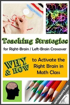 Left Brain / Right Brain Crossover: HOW & WHY to Activate the Right Brain in Math Class