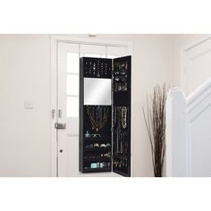 Wholesale Interiors Baxton Studio Reflections Over the Door Jewelry Armoire with Mirror & Reviews | Wayfair